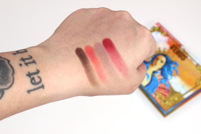 Lime Crime Venus Palette Swatches