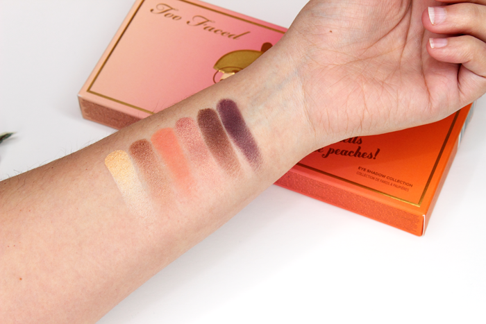 Too Faced Sweet Peach Eye Shadow Palette Swatches