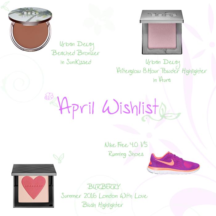 April 2016 Wishlist