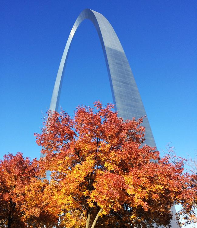 Gateway Arch in Autumn