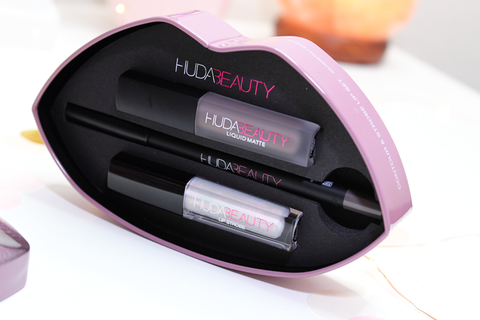 Huda Beauty Contour & Strobe Lip Set in Silverfox